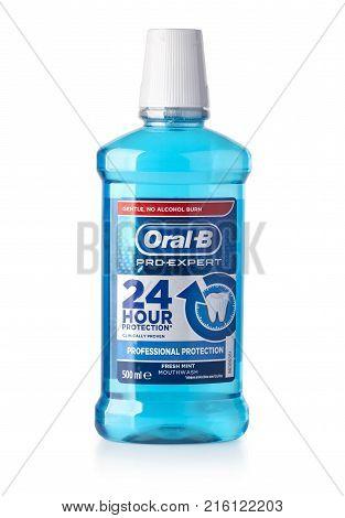 Oral-b Mouthwash On White