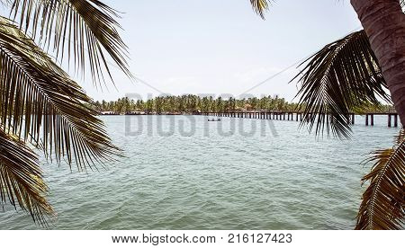 The Backwaters-Kerala This is the Poorvar Backwater and is located in Kerala India. The place is an ideal set up for enjoying the serene beauti of Kerala also known as God's Own Country.iver