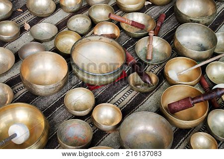 Singing Bowl. Popular souvenier in Nepal, Tibet and India.