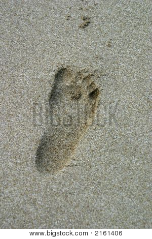 the foot print of my son in the sand poster