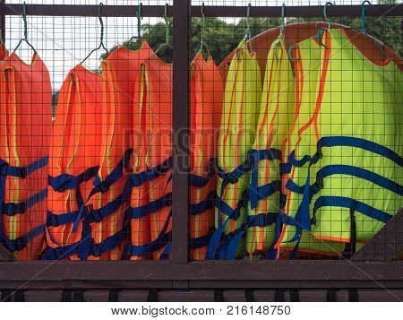 group of Life jacket or life vest
