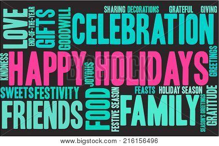Happy Holidays Word Cloud