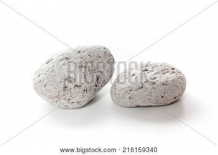 An image of two typical pumice stone