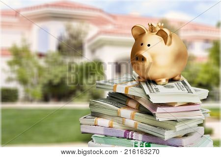 Money bank pig piggy background small wealth