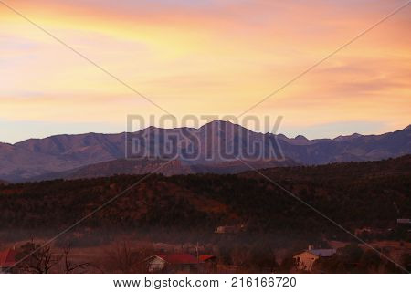 Sunset over the La Plata mountains in Durango, CO