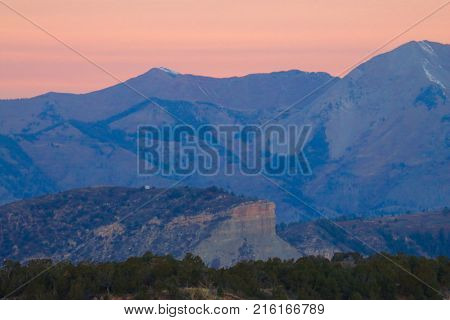 Sunrise over the La Plata mountains in Durango, CO