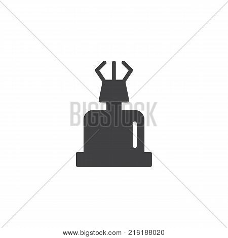 Portable gas stove icon vector, filled flat sign, solid pictogram isolated on white. Campsite equipment symbol, logo illustration