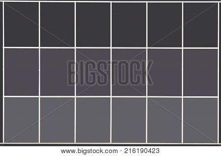 Business architecture large window isolated under dark color business office wall