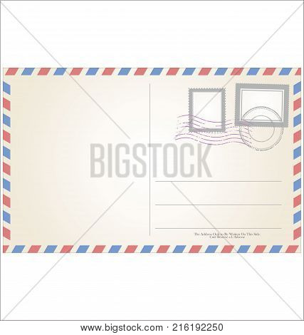 Post Card Template Vector Illustration.eps