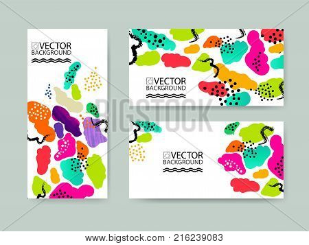 Abstract trendy illustration background placard floral stylized cactus succulent plant style flat and 3d design elements. Unique art for covers banners flyers and posters.