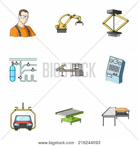 Automotive industry and other  icon in cartoon style.Automated production systems icons in set collection.
