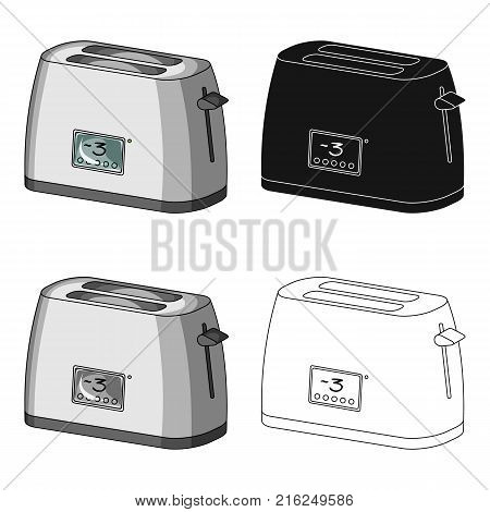 Toaster, single icon in cartoon style.Toaster, vector symbol stock illustration .