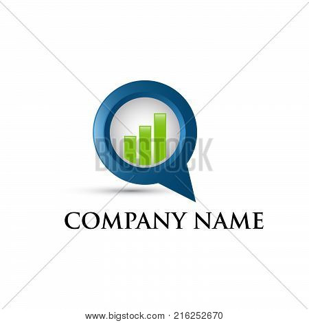 Business finance logo - vector concept illustration. Business economic logo. Arrows and info graphic bar logo illustration. Growth graphic logo. Vector logo template.eps 8.eps 10