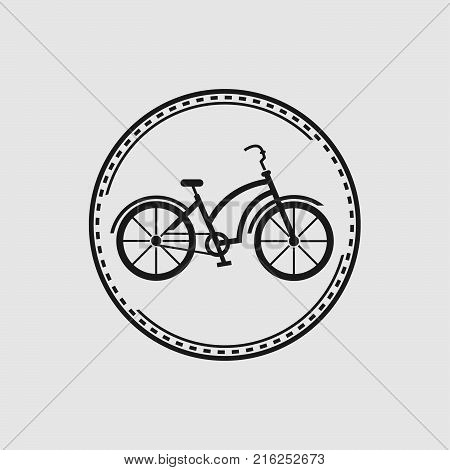 Bike badge outline vector illustration. Bike badge icon isolated. Bike logo symbol. Bike logo for bicycle design. Training concept bike badge isolated logo. Bicycle badge vector isolated,eps 8,eps 10