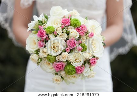 Beautiful bouquet wedding bride wed young adult wedding design