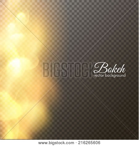 Blurred light overlay transparent bokeh background. Vector eps10.