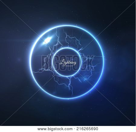 Realistic lightning vector background, plasma ball. EPS10