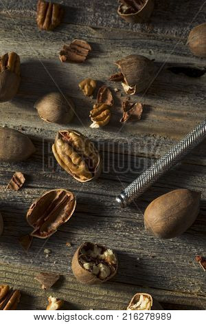Raw Brown Organic Shelled Pecans