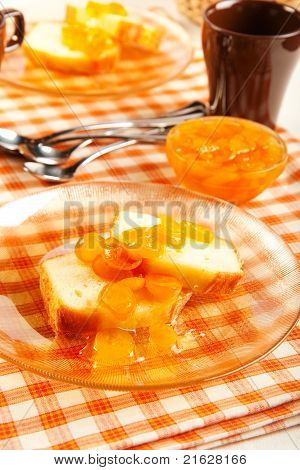 Pound Cake And Kumquat Marmalade