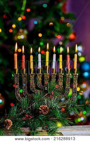 Hanukkah, The Jewish Festival Of Lights Defocused Bokeh, Bokeh Light,