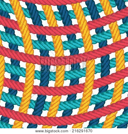 Lasso Rope Vector Pattern Background Template
