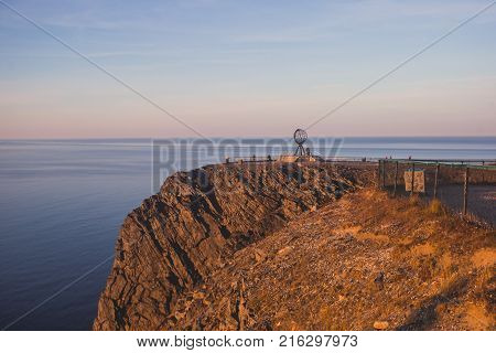 View Of Nordkapp, The North Cape, Norway, The Northernmost Point Of Mainland Norway And Europe, Finn