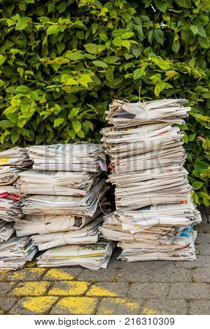 stack of old paper. old newspapers