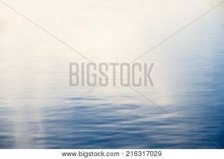 Calm sea water with background in Denmark