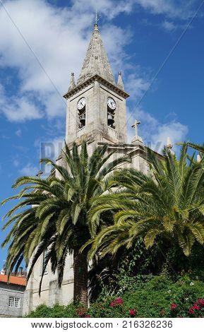 Church of Caldas de Reis on the Camino de Santiago trail, Galicia, Spain