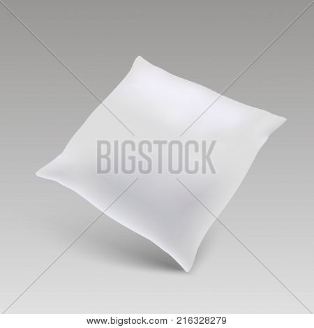 Blank of square pillow for your design. mock up pillow. Vector.