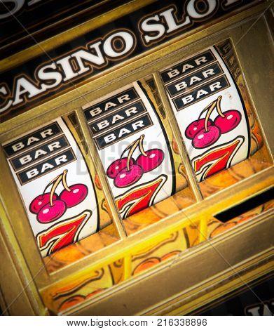 casino slot machine close up