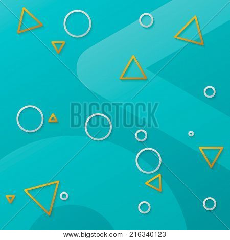 Geometric pattern. Geometry shapes - abstruct background with triangles and circles. Concept of matirial design or motion design. Vector illustration