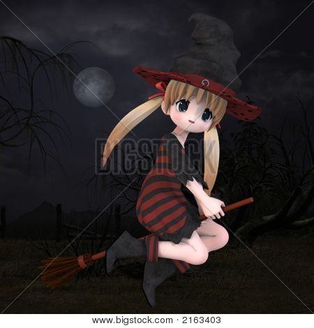 Little Hallowen Witch #02