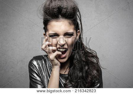 Transgressive woman posing