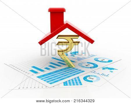 House Rupee Symbol Image Photo Free Trial Bigstock