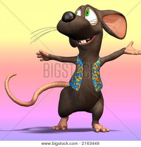 Cartoon-Maus oder Ratte #04