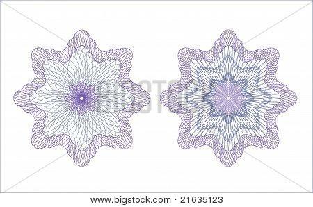 Vector guilloche rosettes