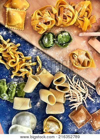 Trieste -Italy 26 november 2017: Excellence of italian foods are shown at the Salone degli Incanti at the show cooking event called