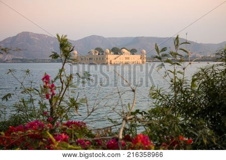 The Jal Mahal or Water Palace situated in the Man Sagar lake on the street connecting Jaipur and Amber in the Rajasthan state of India