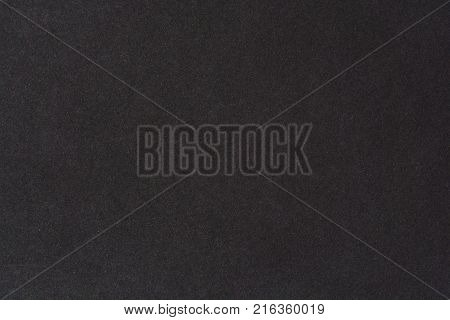 Black paper texture background. Black blank cotton paper page.