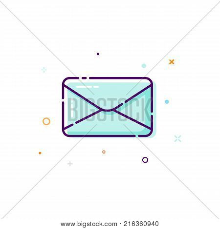 Concept mail icon. Thin line flat design element. Concept of receive an e-mail. Vector illustration isolated on white background