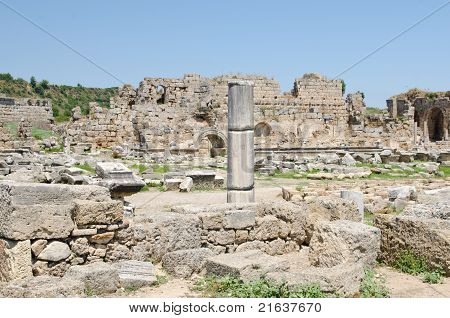 Ancient Ruins Perge Turkey