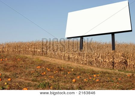 Billboard In A Corn Field