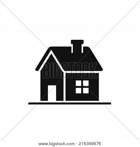 House icon home symbol Vector isolated flat illustration. Side view. Real estate rent house.