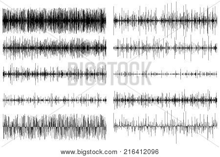 A set of sound equalizers on a white background.