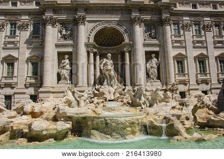 Trevi Fountain (Fontana di Trevi) Rome Italy