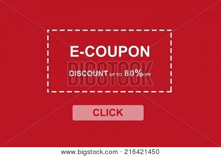 E-coupon discount coupon web banner background shopping on line promotion on line shopping digital marketing business and technology concept