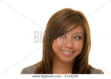 Beautiful Happy Business Woman