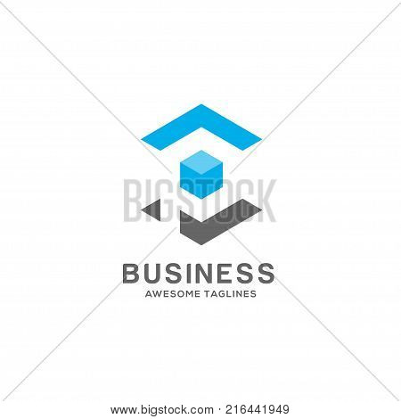 Letter P square box logo vector illustration template, letter P trend logo vector, creative Letter P letter logo