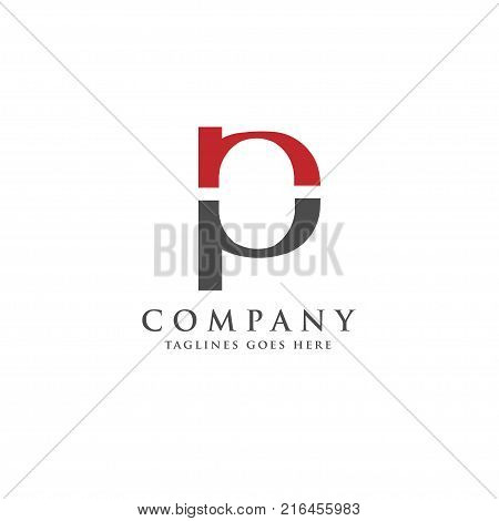 PN letter logo design vector illustration template, P letter logo vector, letter P and N logo vector, creative Letter PN letter logo